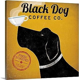 dog coffee art