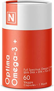 Optima Omega-3 + | Advanced Omega-3 Support Formula by Nuzena - with DHA & EPA for A Full Spectrum Omega-3 Complex (60 Cap...