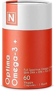Optima Omega-3 + | Advanced Omega-3 Support Formula by Nuzena - with DHA & EPA for A Full Spectrum Omega-3 Complex (60 Capsules)