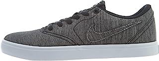 NIKE Men's SB Check Solar Canvas Premium Skateboarding Shoes (8.5 D(M) US, Black/Black-White)