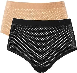 FEOYA Women Butt Lifter Shapewear Seamless Padded Underwear Hip Enhancer Panties Control Body Shaper Brief - Pack of 2