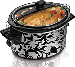 Hamilton Beach Stay or Go 3.5 Litre Slow Cooker with Spill Resistant Lid Lock, Dishwasher-Safe Crock, Black (33246A-SAU)