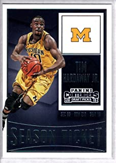 2015-16 Contenders Draft Picks Season Ticket Basketball #90 Tim Hardaway Jr. Michigan Wolverines Official NCAA Trading Card made by Panini