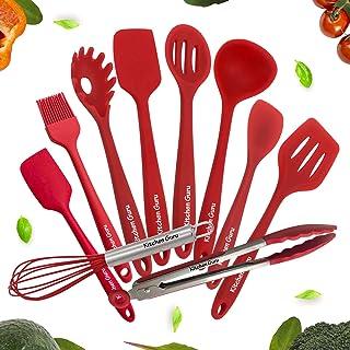 Kitchen Utensil 10-piece Set by Kitchen Guru – Cooking Utensils Including Silicone Spatula, Non-Stick, Non-Scratch, Cooking Utensils Set – 10 Piece Silicone Cooking Utensils Set For Every Home