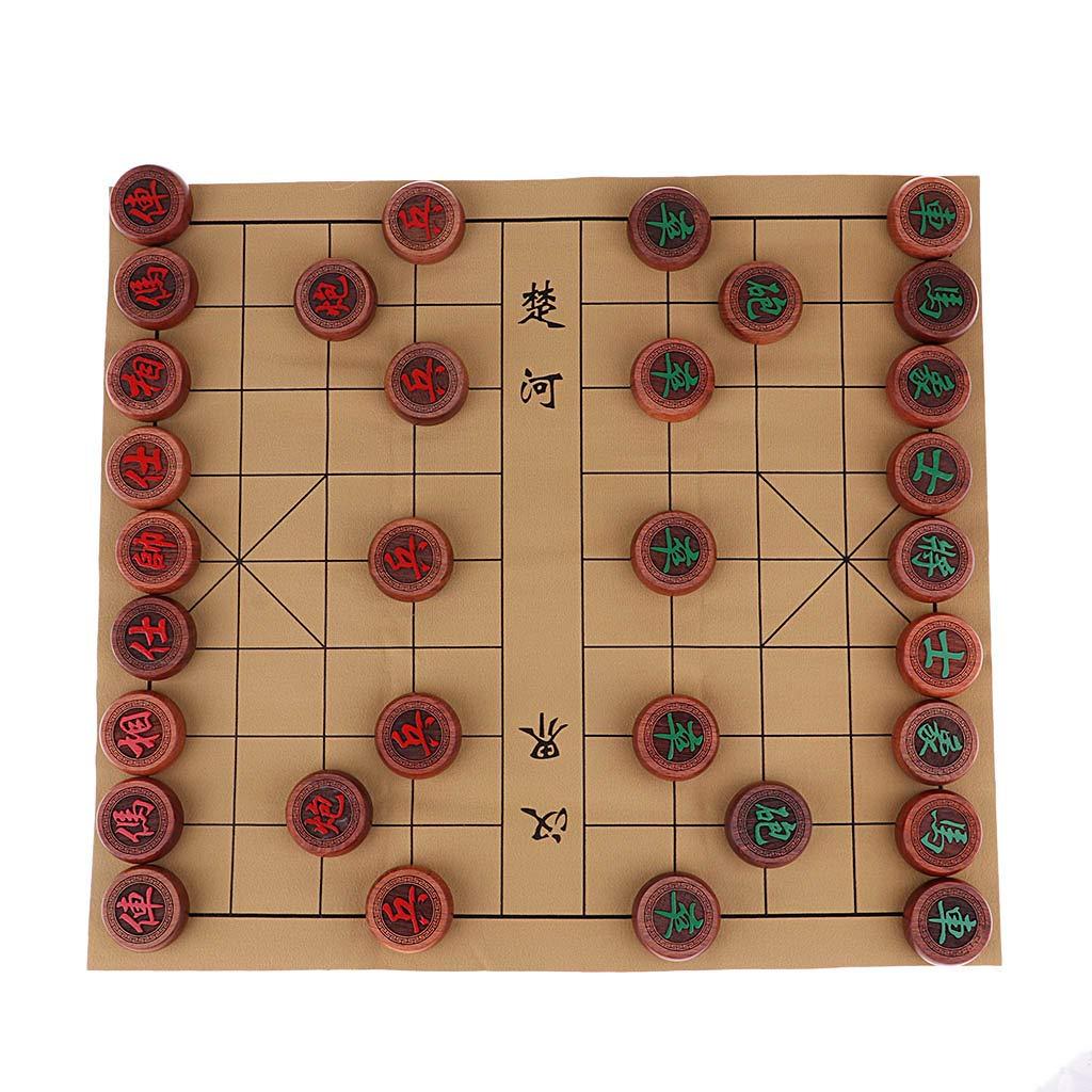 FLAMEER Juego de Mesa de Estrategia Xiang Qi Ajedrez Chino Juguete de Inteligencia - A: Amazon.es: Juguetes y juegos