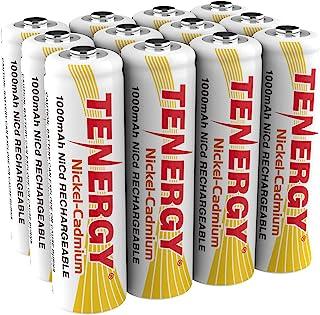 Tenergy AA Rechargeable Battery NiCd 1000mAh 1.2V Battery Pack for Solar Lights, Garden..