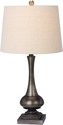 "Cory Martin W-1553 Metal Table Lamp, 28"", Dark Silver"