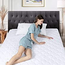 DOWNCOOL Waterproof Mattress Pad Twin Size, Ultra Soft Cotton Quilted White Mattress Pad Topper Cover, Breathable Mattress...