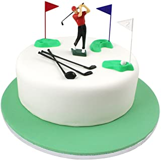 PME GS010 Set Cake Topper Golf Decorations/Plastic Figures, 13-Pieces, Green/Red/Blue/White/Black, Standard, Multicolor