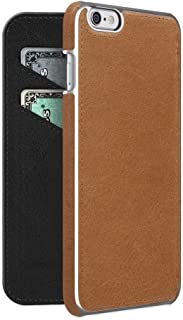 ADOPTED Leather Folio Case for Apple iPhone 6 Plus/6sPlus - Brown/Silver - APH13242