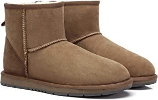 UGG Classic Ankle Boots for Women's Men's Uggs Premium Twinface Sheepskin Snow Boot Water Resistant Black Grey Chestnut Ch...