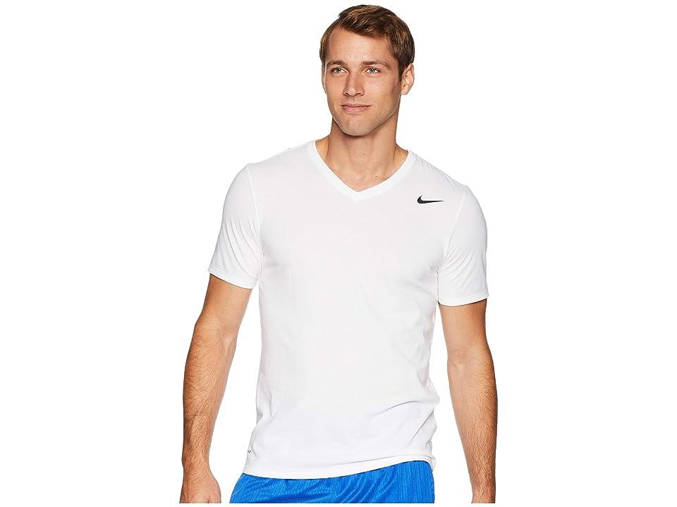Nike Dry Training V-Neck T-Shirt (White) Men