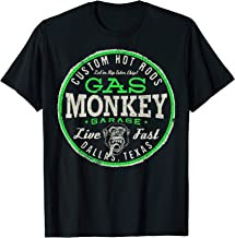 Gas Monkey Garage Live Fast Bright Green Badge T-Shirt