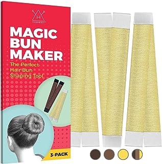 Blonde Magic Bun Makers 3 Pieces, Hawwwy Hair Bun Maker, Donut Hair, Perfect Hair Bun Maker, Hair Donuts for Updos, Easy B...