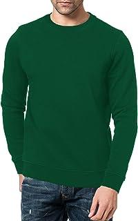 New Mens Sweat Shirt Sweater Brushed Fleece Jumper Crew Neck Plain Casual Pullover Work Sport TOP UK S M L XL XXL