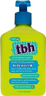 TBH Kids Body Wash - Gentle Exfoliating Body Wash - Sulfate, Paraben Free - 12 oz