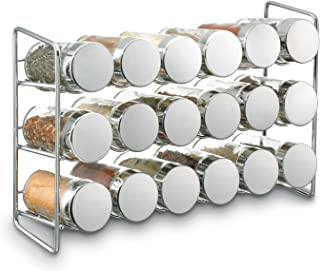Polder Horneado 18-Jar Compact Soporte para Botes de Especias, Plateado