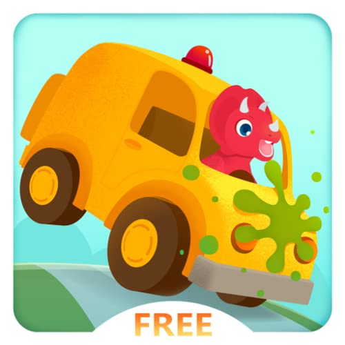 Dinosaur Car Free - Monster Truck Racing and Simulator Games for Kids