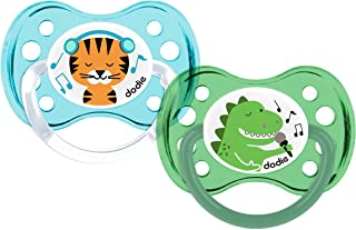 Dodie - Set of 2 Dinosaurs / Tiger Lollipops + 6 Months