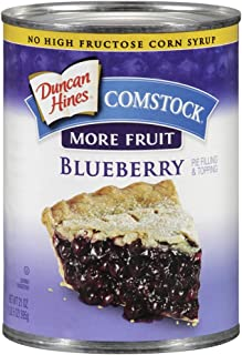 Comstock More Fruit Pie Filling & Topping, Blueberry, 21 Ounce (Pack of 4)