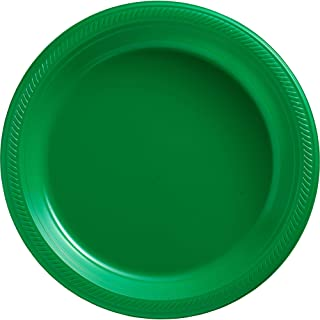 Big Party Pack Festive Green Plastic Plates | 10.25
