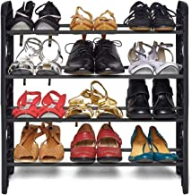 G.R.Marketing Shoe Rack- Multipurpose Shoe Racks Collapsible Shoe Stand- Shoe Organizer (4 Shelf, Without Cover)