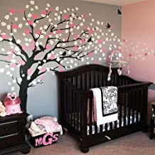 Simple Shapes Cherry Blossom Tree - Elegant Style (Color Scheme A - Black Tree)