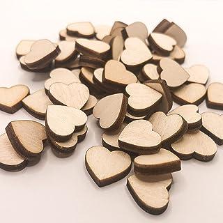 50 Stück Mini Holz Herzen (13mm) Deko Hochzeit Streudeko Geburtstag Holzscheiben zum Basteln Taufe Dekoration Weihnachten ...