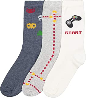 La Redoute Collections Boys Pack Of 3 Pairs Of Printed Socks