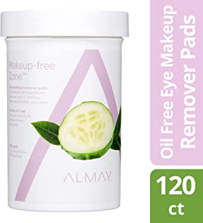Almay Oil Free Eye Makeup Remover Pads , 120 count, make up remover wipes