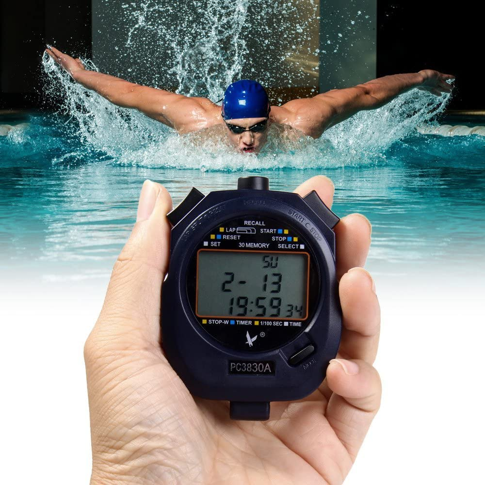 D-Trading PC3830A Electronic Stopwatch Digital Running Timer Chr
