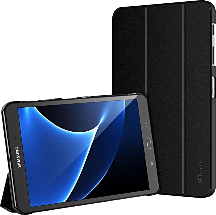 JETech Hülle für Samsung Galaxy Tab A 10,1 (T580/T585), Schutzhülle mit Ständer Funktion und Auto Schlaf/Wachen, Schwarz