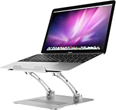MoKo Laptop Stand, Universal Multi-Angle Adjustable Laptop Holder for Desk Aluminum Notebook PC Desk Holder, Fit with MacBook Pro/Air, Acer, ASUS, HP, Sony, Dell XPS, Lenovo (11 Inch -17 Inch)- Silver