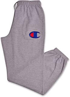 Champion Mens Big and Tall Fleece Jogger Sweatpants with C Logo