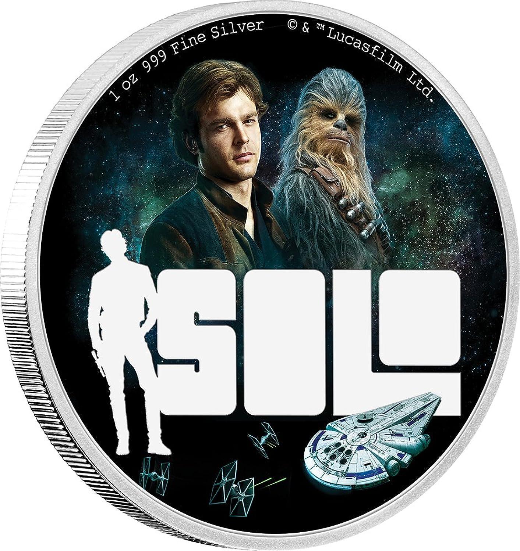 Power Coin Solo Han Star Wars Story 1 Oz Silber Münze 2  Niue 2018