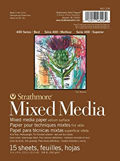 Pro-Art Strathmore Mixed Media Vellum Paper Pad 6-inch x 8-inch-15 Sheets, Other, Multicoloured, 2.63 x 17.24 x 22.32 cm