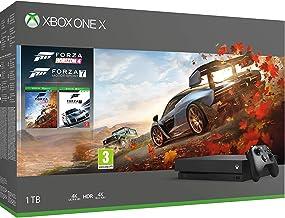 Microsoft Xbox One X Forza Horizon 4 Bonus Bundle: Forza Horizon 4, Forza Motorsport 7, Xbox One X 1TB Console - Black - X...