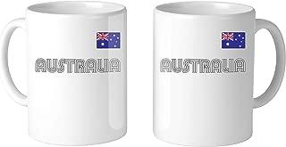 SpiritForged Apparel Australia Country Pride Flag 11oz White Coffee Mug (2 Mugs)