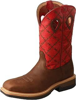 Men's Lite Cowboy Western Work Boot Round Toe - Mlcw025