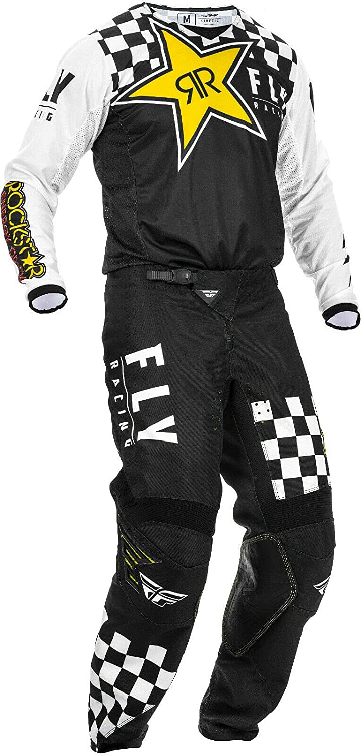 Fly Racing 2020 Kinetic K120 Ranking TOP10 Black Rockstar Yellow Adult White M New life