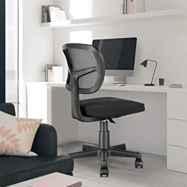 MOLENTS Task Chair Armless Office Chair Mesh Computer Chair for Home Office Desk Mid Back Swivel Desk Chair Ergonomic Small Chair