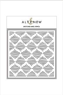 "Altenew Sketched Lines Stencil, Size(6"" x 6"")"