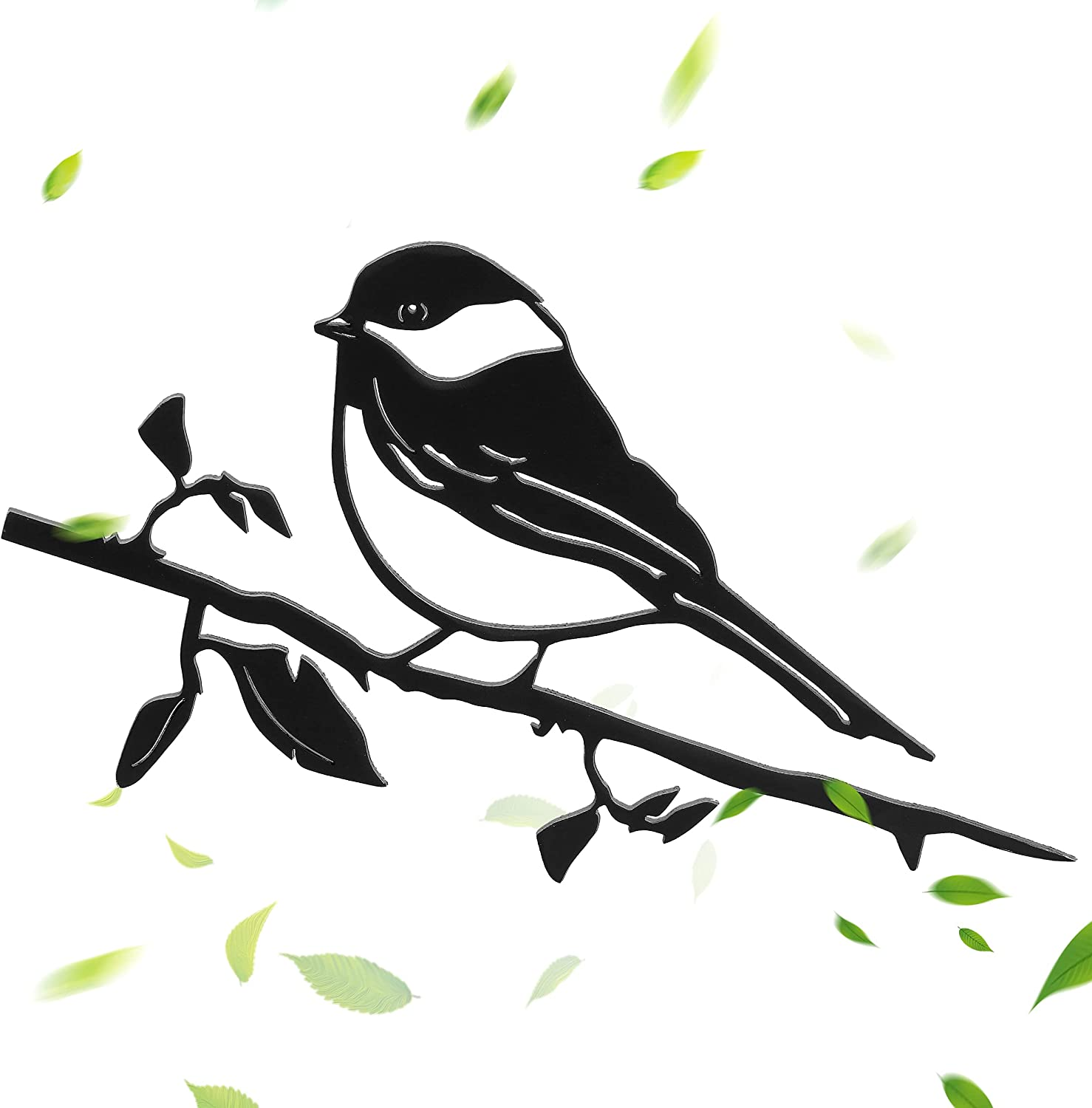 Metal Bird Chickadee - Steel Metal Art Garden Decor for Outside, Beautiful Outdoor Display, Yard Art For Garden – The Perfect Gift For Friends & Family