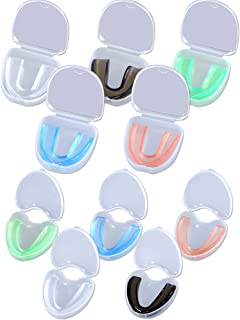 Hsei 10 Pieces Sports Mouth Guards Sports Mouth Protection Athletic Mouth Guard with Portable Box for Adult and Youth,  5 Colors