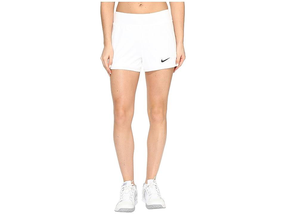 Nike Nike Court Flex Pure Tennis Short (White/Black) Women