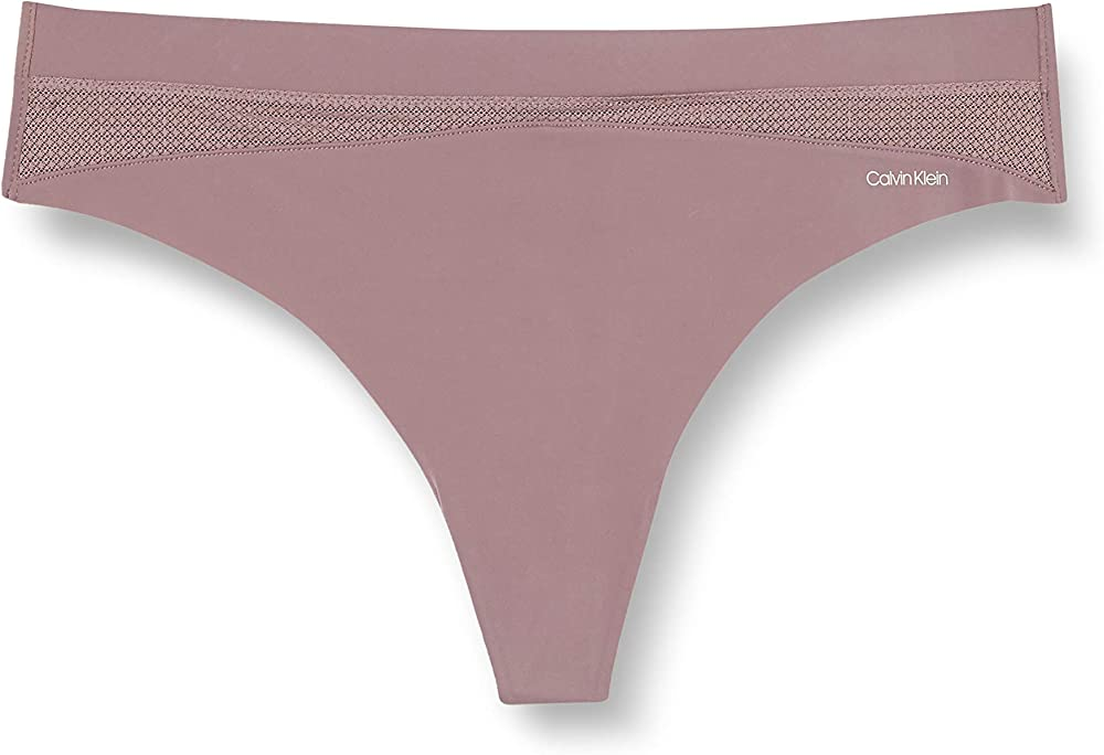 Calvin klein thong lingerie,mutandine,slip per donna,70% poliammide, 30% elastan 000QF6047EF