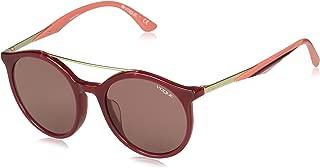 VOGUE Women's 0vo5242sf Round Sunglasses, Opal Black Cherry, 51.0 mm