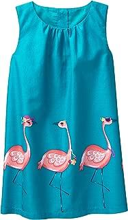 Gymboree Girls' Toddler Sleveless Flamingo Border Print Dress