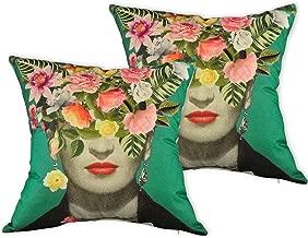 Prettyus Throw Pillow Covers Set of 2, Frida Kahlo Self-PortraitDecorative Cotton Linen Square Throw Pillow Case ProtectorsCushion Covers 18x18