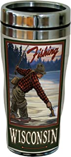 Tree-Free Greetings sg23297 Vintage Wisconsin Fly Fishing by Paul A. Lanquist Stainless Steel Sip 'N Go Travel Tumbler, 1...